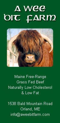 Scottish Highland Cattle are naturally leaner and low in cholesterol. Grass fed not just grass finished!
